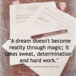 dream takes hard work quote