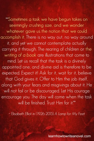 the writing of a book Elisabeth  Elliot 2015