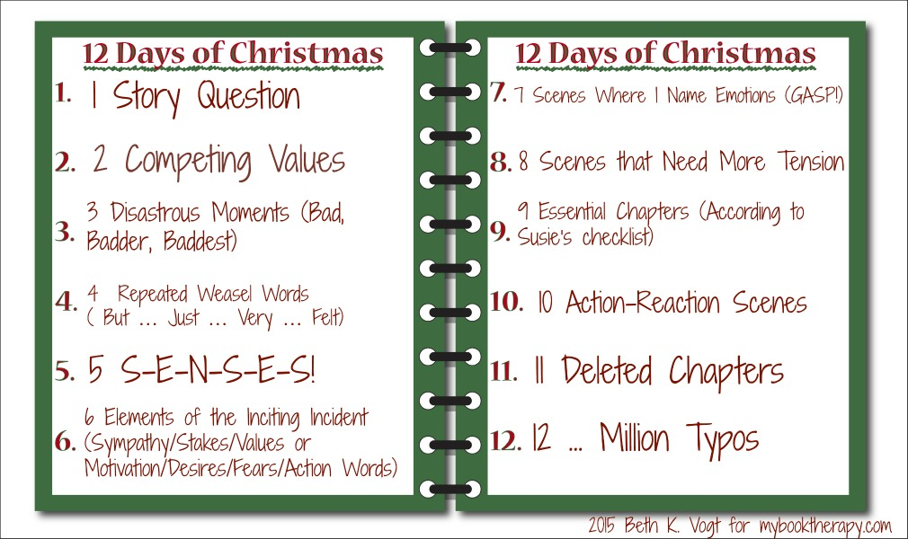 12 Days Of Christmas MBT Style Notepad