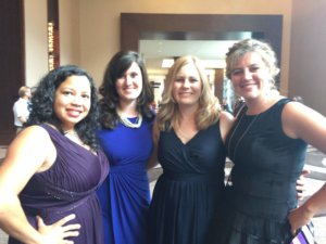 Alena Tauriainen, Kariss Lynch, Lindsay Harrel and Gabrielle Meyer at The Gala Event.